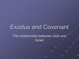 Exodus and Covenant