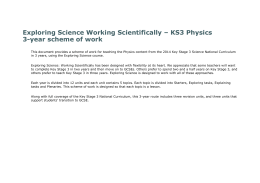 KS3 Physics 3-year scheme of work