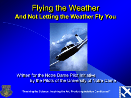 Aviation Weather - University of Notre Dame
