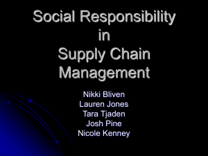 Social Responsibility in Supply Chain Management