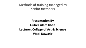 Methods of training managed by senior members