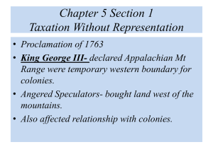 Chapter 5 Section 1 Taxation Without