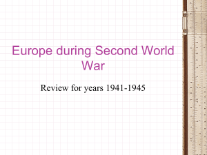 Europe during Second World War