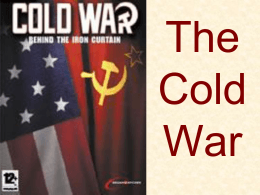 Cold WAR Student PP