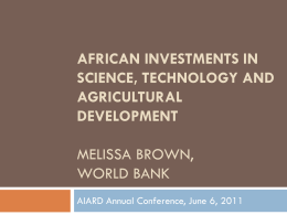 Slide 1 - AIARD Association for International Agriculture & Rural