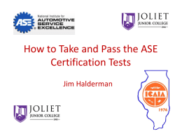 ASE Certification Tests