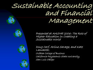 National Income Environmental Accounting
