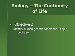 Biology * The Continuity of Life