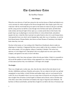 Prologue text - MendenhallEnglish