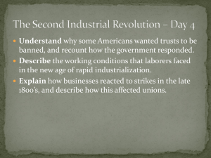 The Second Industrial Revolution – Day 4