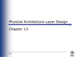 Chpt 13 - Physical Architecture Layer Design