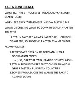 Schultz/APUSH Name: Period 7 Timeline of Major Events Part II