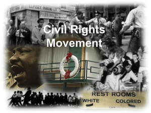 Civil Rights Movement - Montgomery Township Schools