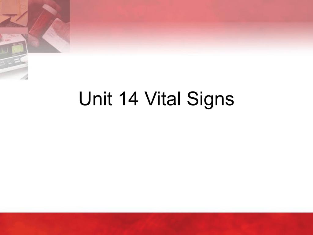 Unit 14 Vital Signs Delmar – Vital Signs Worksheet