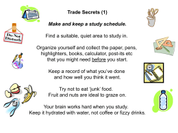 Trade Secrets - revision tips and techniques