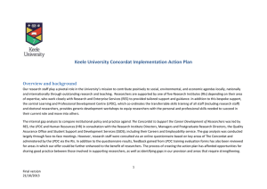 Action Plan - Keele University