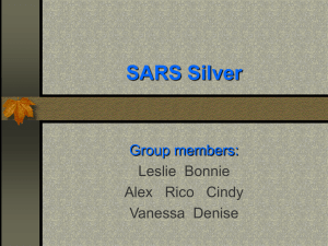 SWOT Analysis For SARS Silver