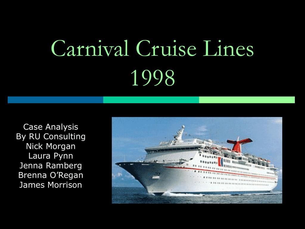 carnival cruise case study analysis