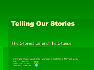 Telling Our Stories - Western State Colorado University