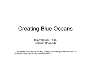 Creating Blue Oceans