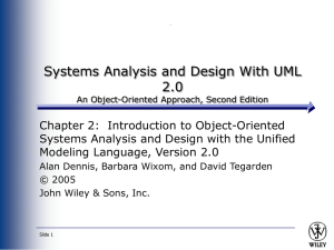Systems Analysis and Design Allen Dennis and Barbara Haley Text