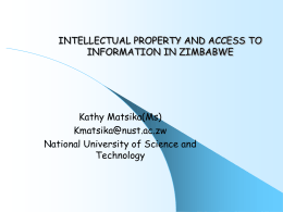 intellectual property and access to information in zimbabwe