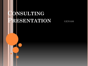 CONSULTING PRESENTATION GEN/480 March