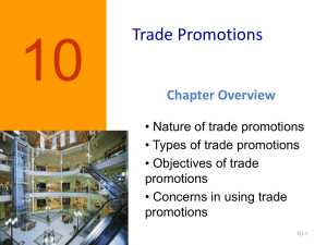 Figure 12-1 Objectives of Trade Promotions