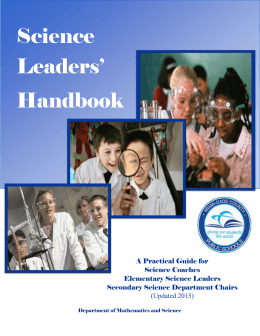 Science Leaders Handbook 09-2015 - Miami