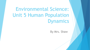 Environmental Science: Unit 5 Human Population Dynamics