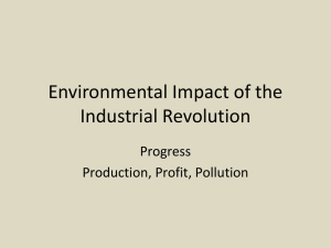 Environmental Impact of the Industrial Revolution