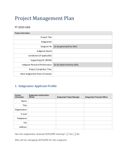 Project Management Plan - Metropolitan Washington Council of