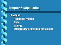 Chapter 2: Negotiation
