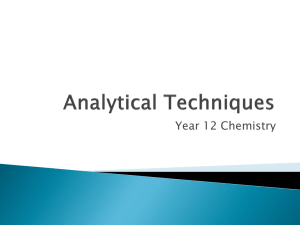 Analytical Techniques