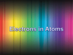 The electron! Speed and energy notes