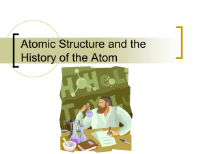 Atomic Structure and the Elements