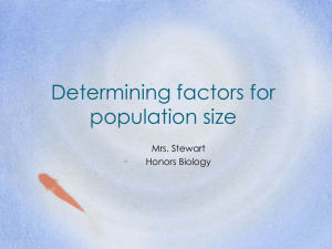 limits to population size