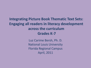 Integrating picture book thematic text sets