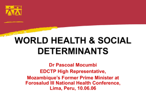 world health & social determinants