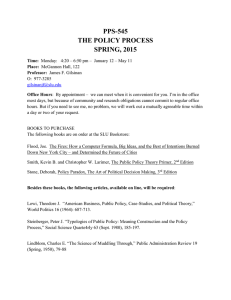 pps-545 the policy process spring, 2015