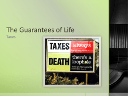 Planning 10 – finances – Game of Life – Taxes Lesson