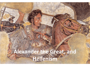 Alexander the Great and Hellenism