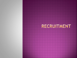 Recruitment - todaysupdates