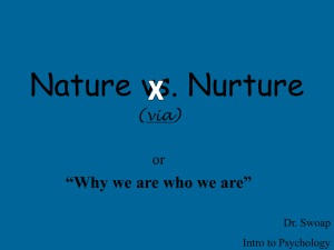 Nature vs. Nurture - Warren Wilson Inside Page