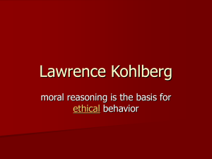 Lawrence Kohlberg - Personal Web Pages