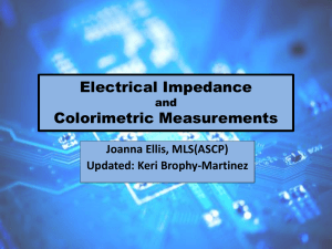 Electrical Impedance and Colorimetric Measurements