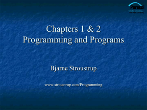 Programming and - Bjarne Stroustrup