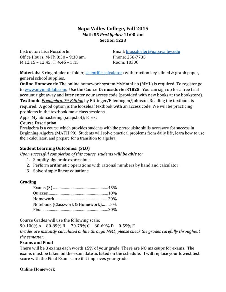Math-55 Pre-Algebra (1233)