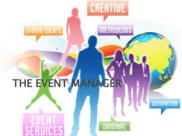 THE EVENT MANAGER