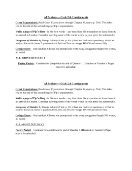 ap essay great expectations The format of the ap exam in english literature and composition,  professional expectations for their work that  of ap essay excerpt unit two: the great.